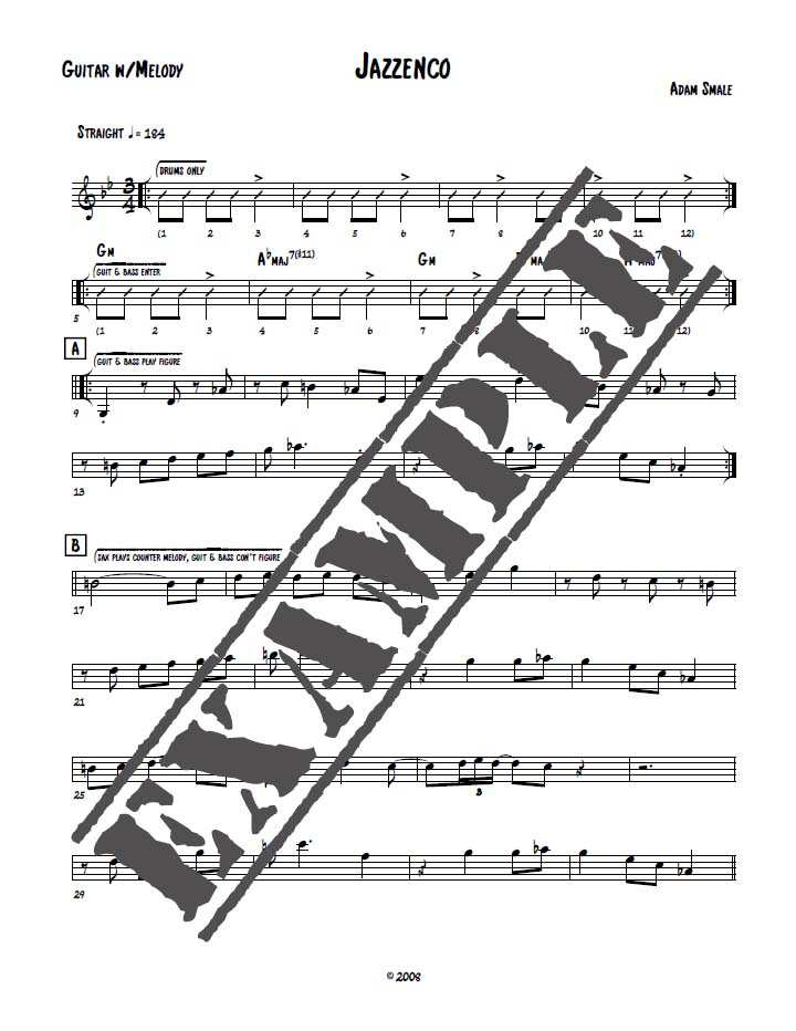 Jazzenco Sheet Music For Guitar Adam Smale